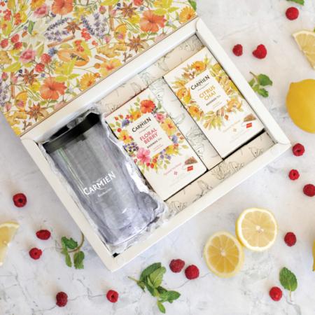 carmien pyramid tea on the go gift box