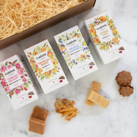 tea and nibbles pairing box